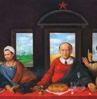 """Показаха Тодор Живков като Исус в """"Тайната вечеря"""""""