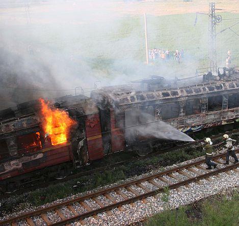Пожар избухна във влака София- Бургас