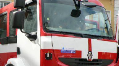 Камион се запали на пътя Русе-Бяла