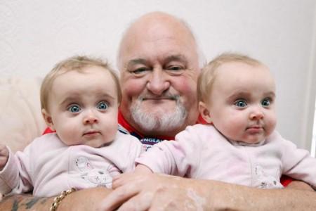 71-годишен стана татко на близначки, иска и момченце