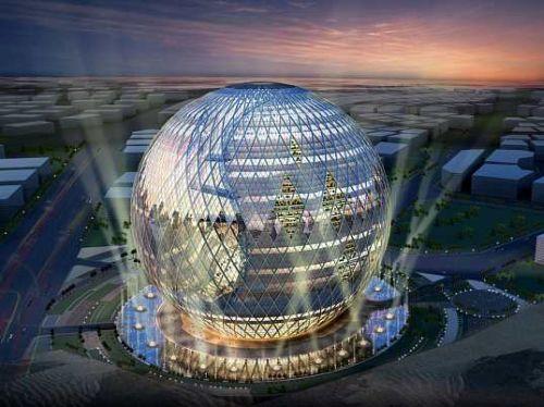 Екологичен глобус-сграда в Дубай
