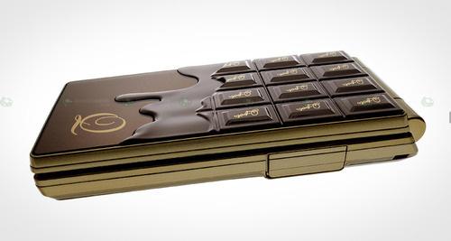 Японски мобилен телефон, като топящ се шоколад