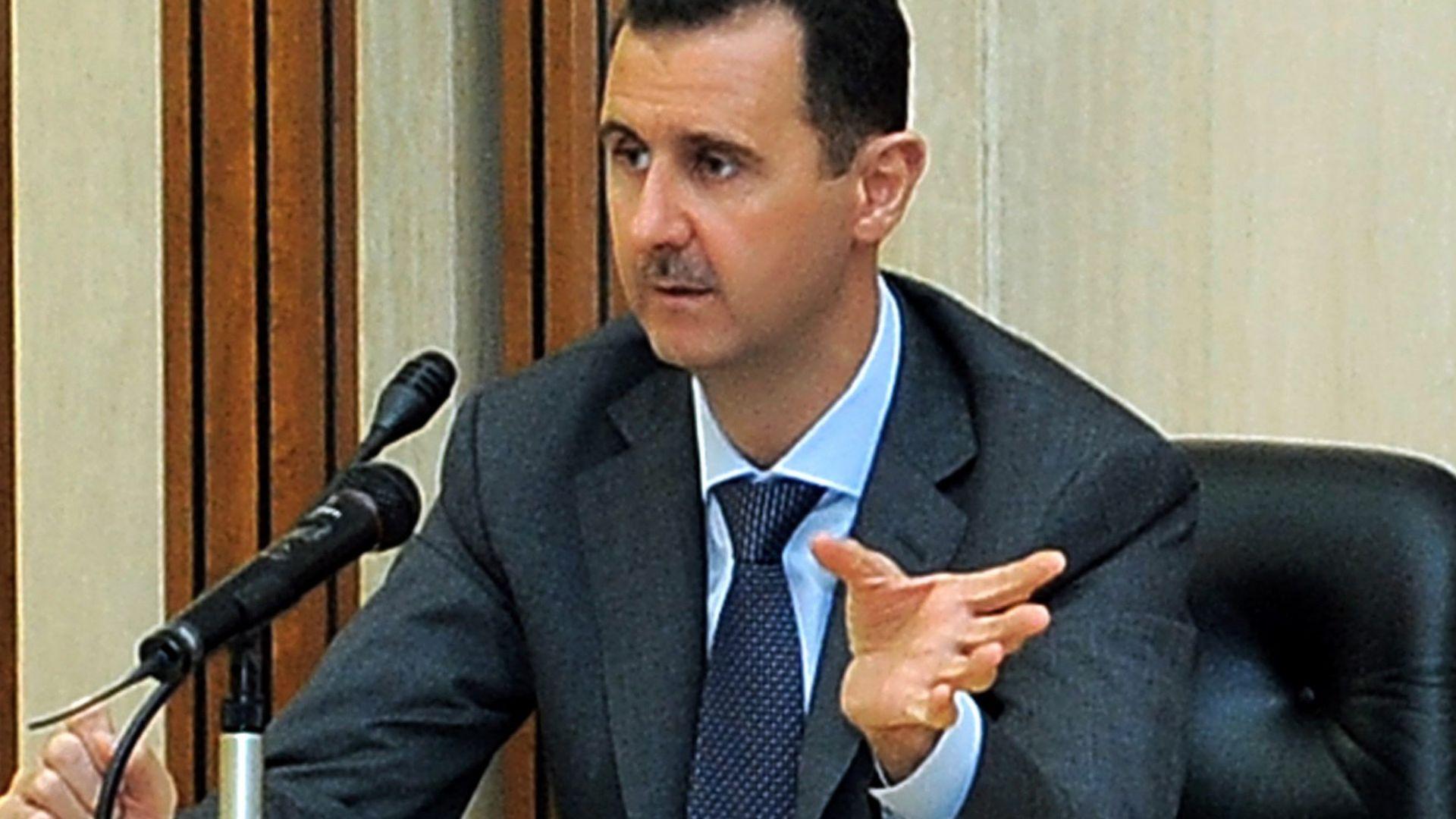 Асад разказа как мина е влетяла в кабинета му