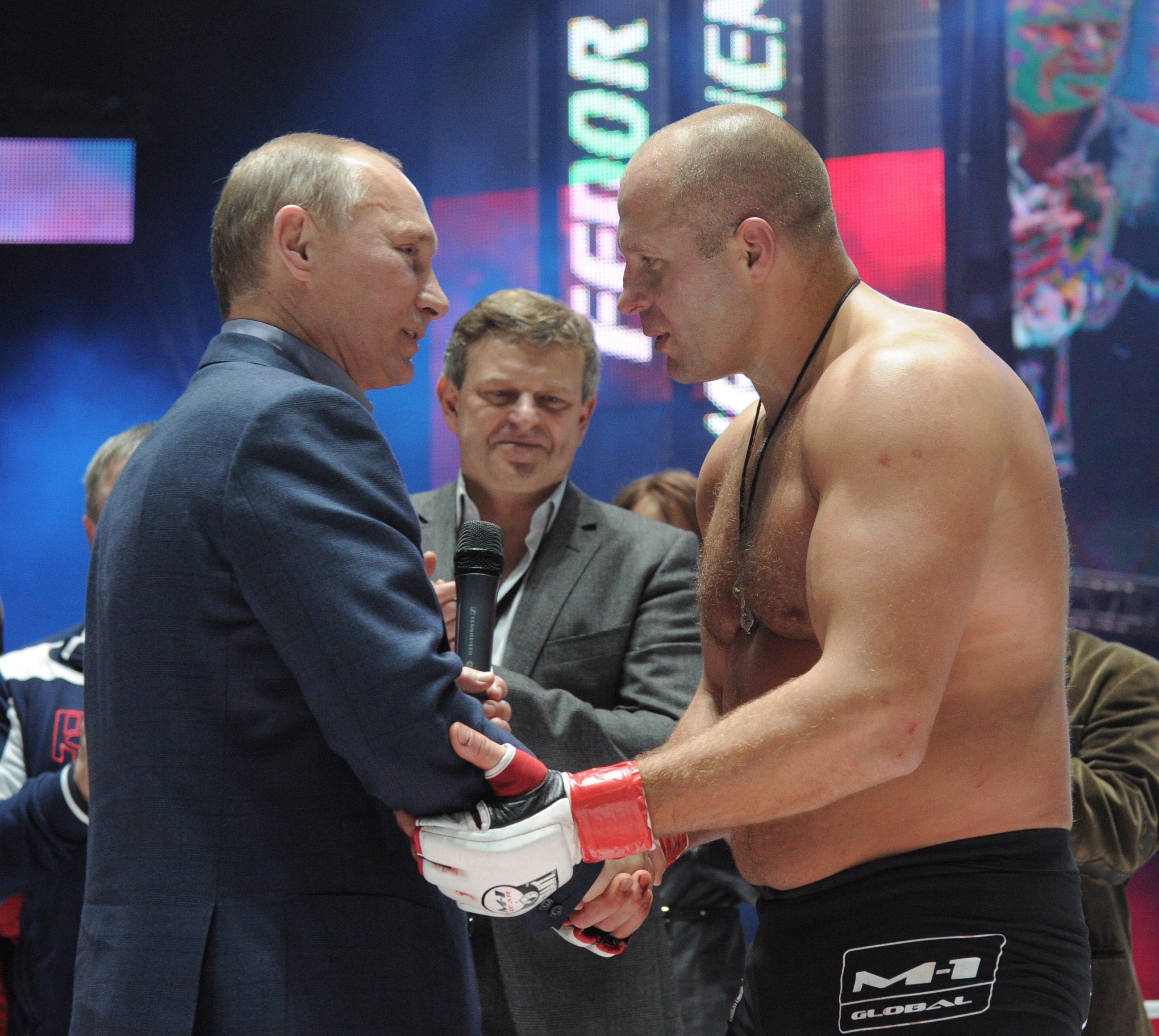Освиркаха Путин на мач ММА (видео)