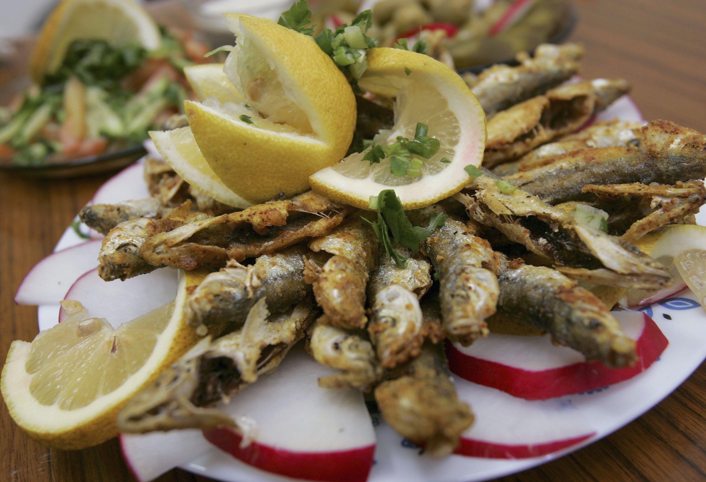 Рибен кебап с печурки