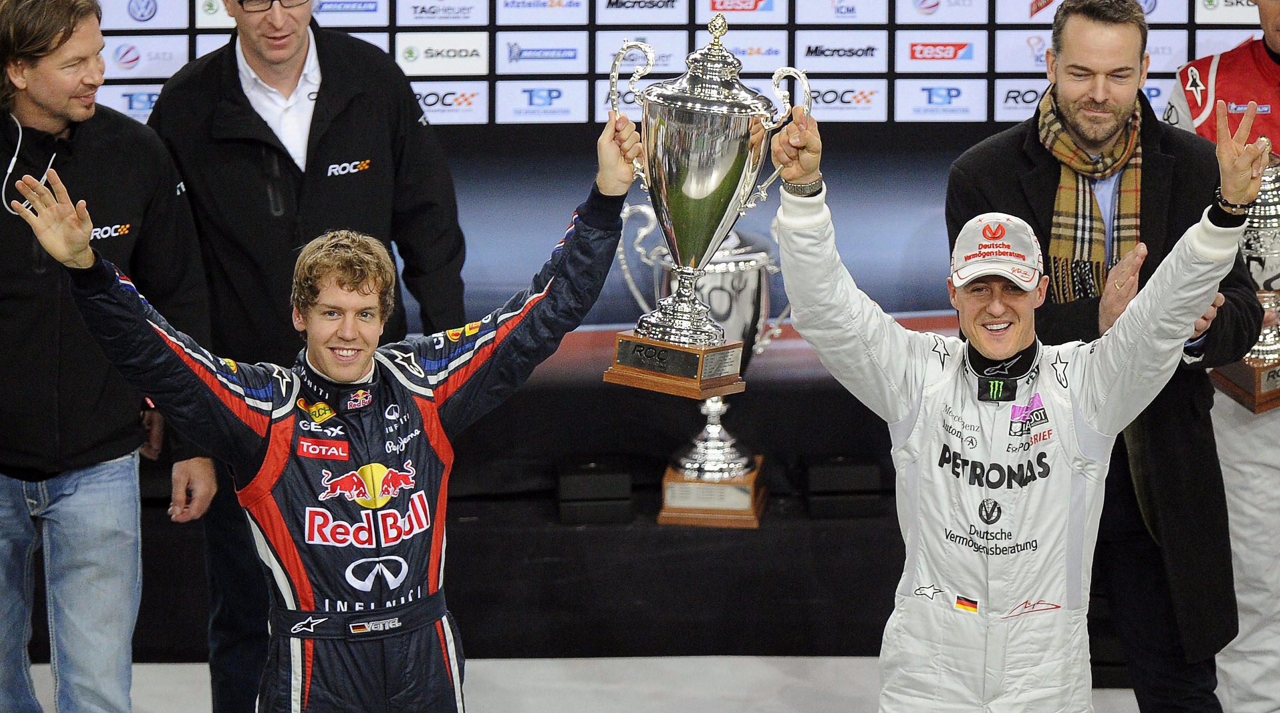 Шумахер победи Фетел в Състезанието на шампионите