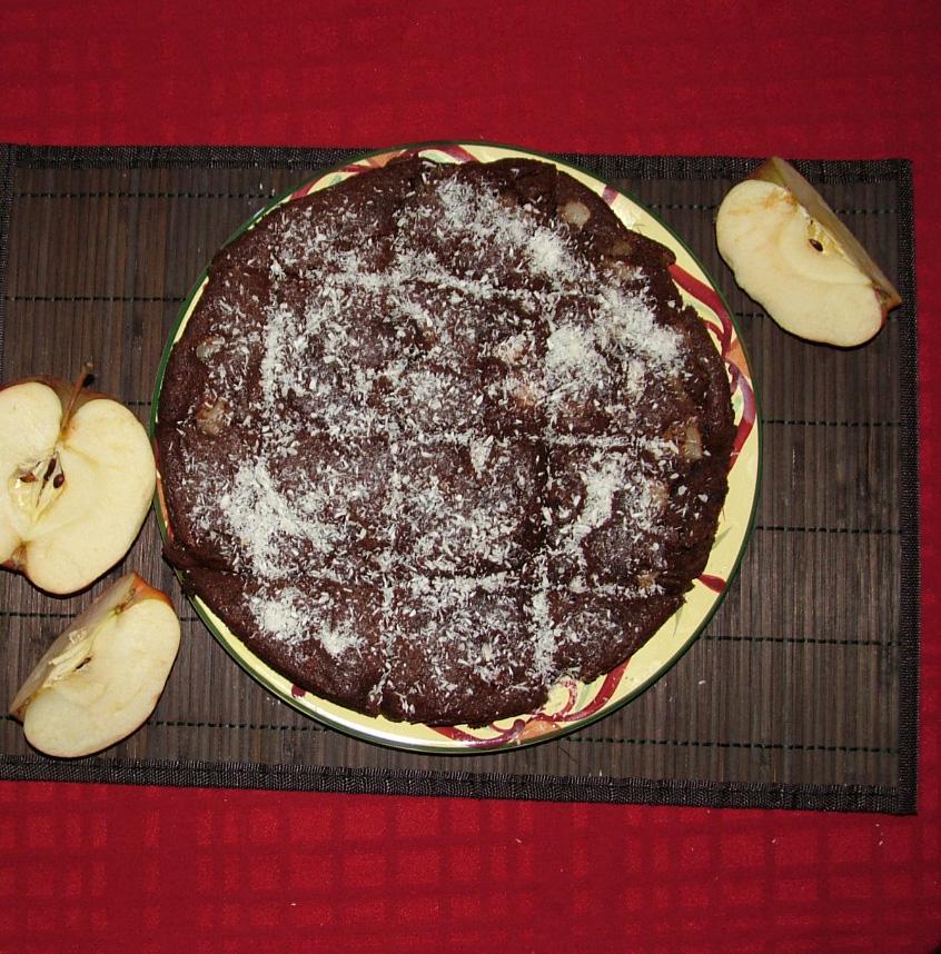 Постен сладкиш с какао и ябълки