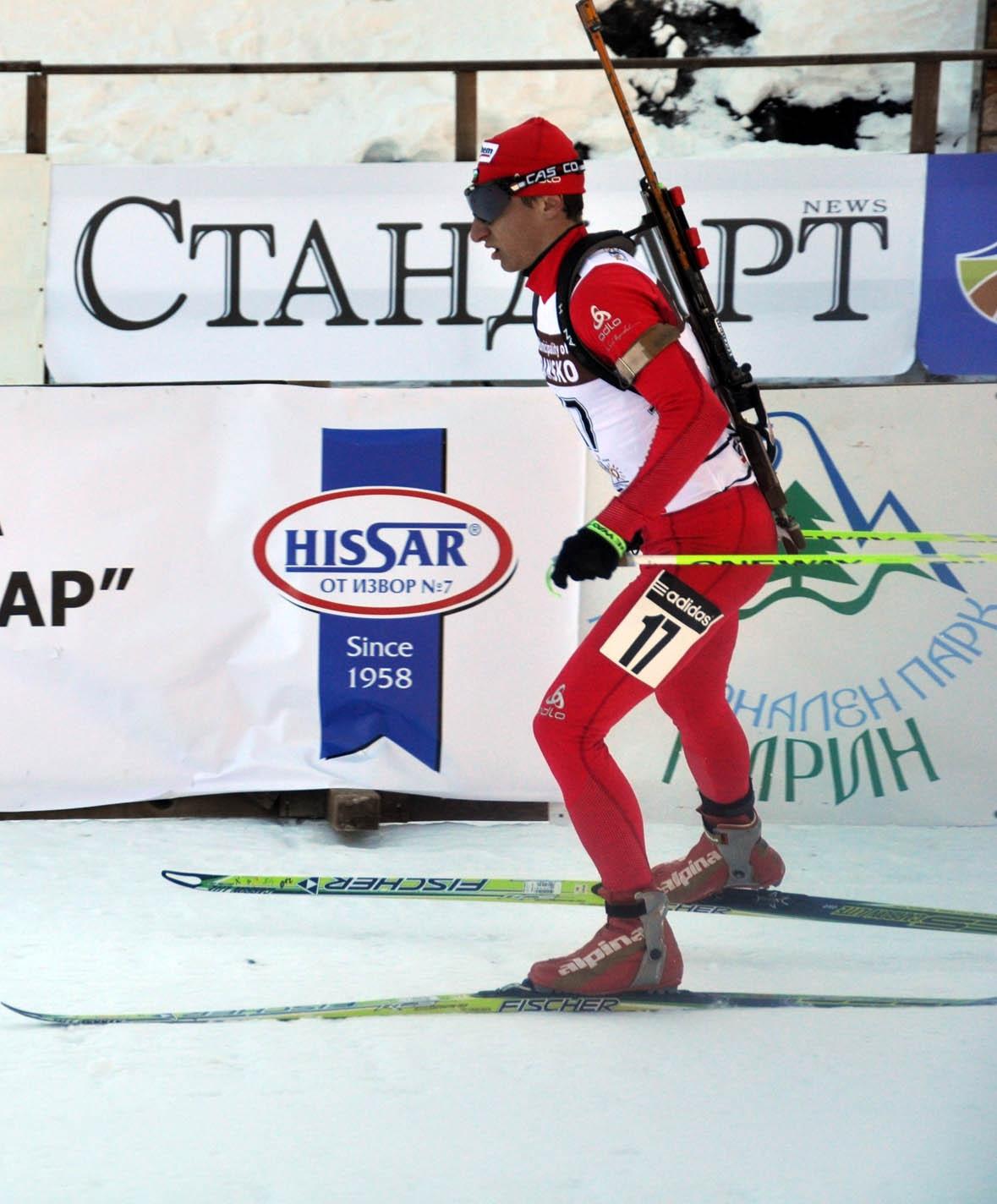Краси Анев 10-и в преследването на 12,5 километра