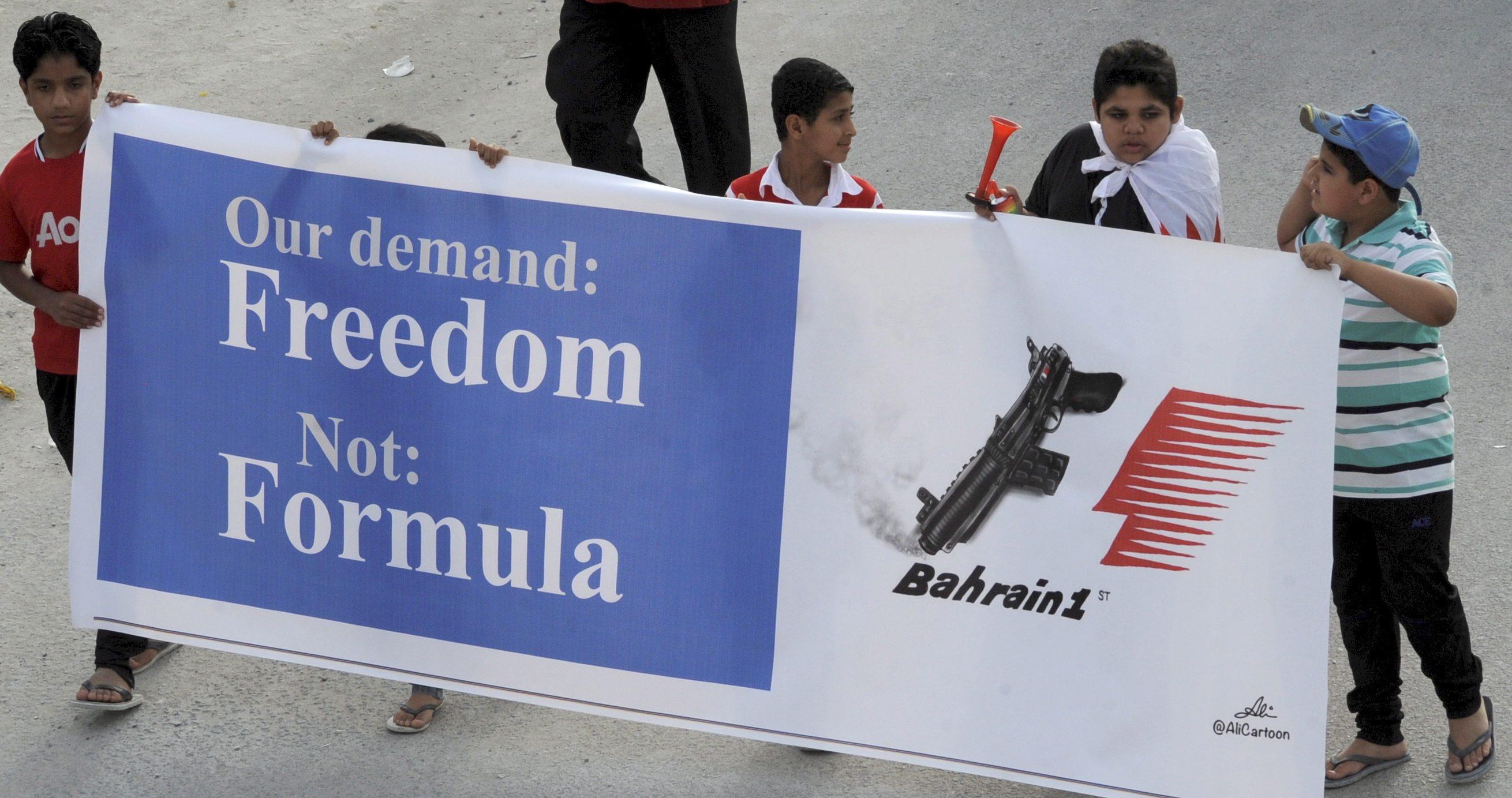 С протести посрещнаха отборите от Ф1 в Бахрейн