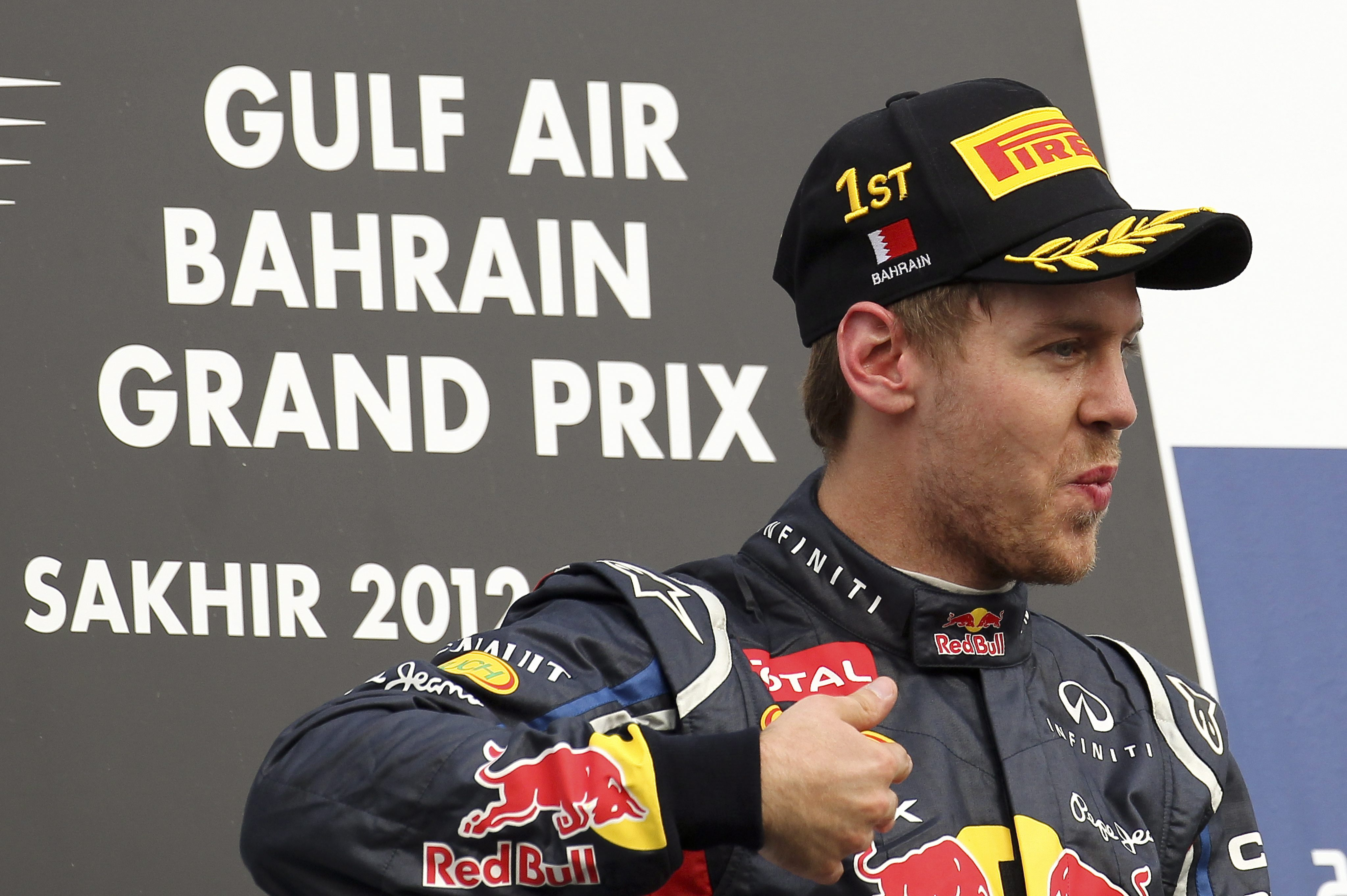 Фетел записа първа победа за сезона в Бахрейн