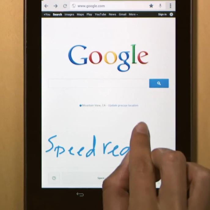 Google въведе ръкописно търсене (видео)