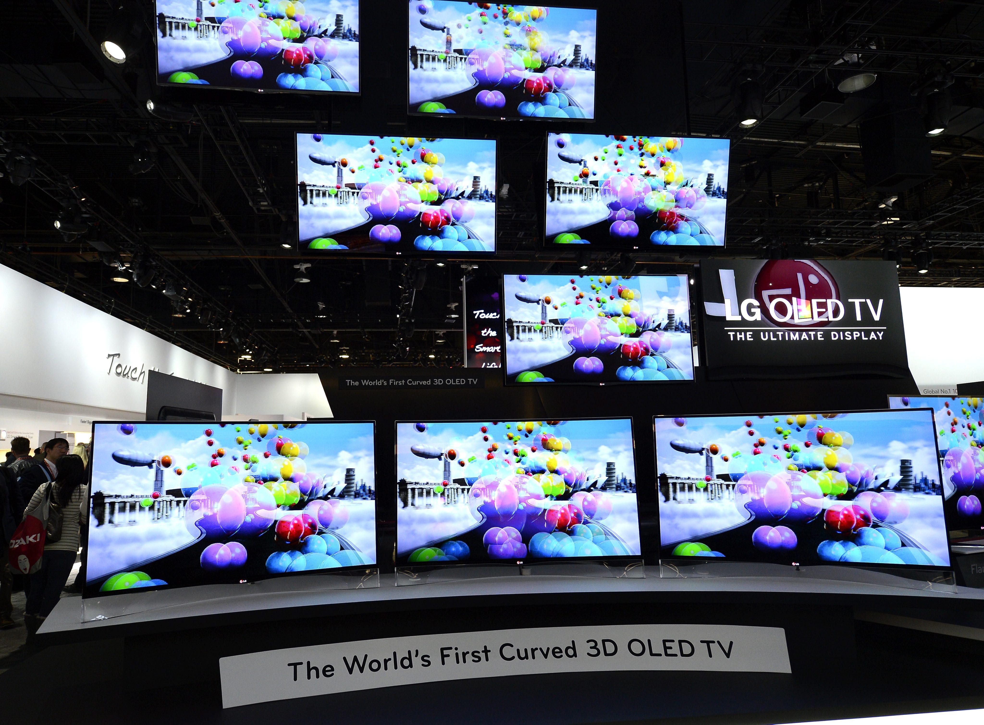 LG и Samsung показаха телевизори с извити екрани