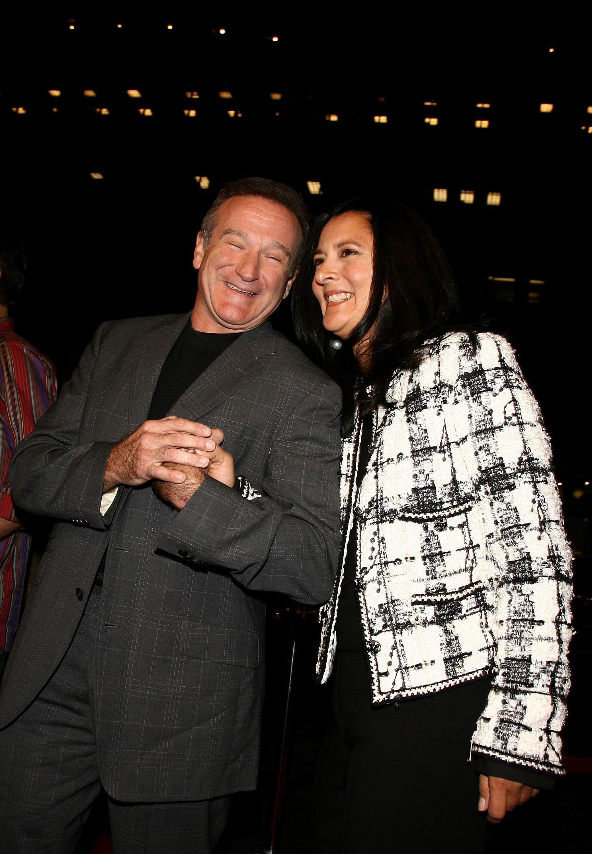 Робин Уилямс с бившата си съпруга Марша