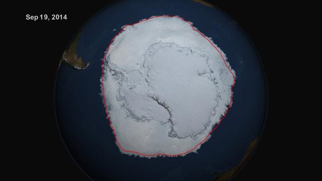 Рекордно ниво на морския лед в Антарктика