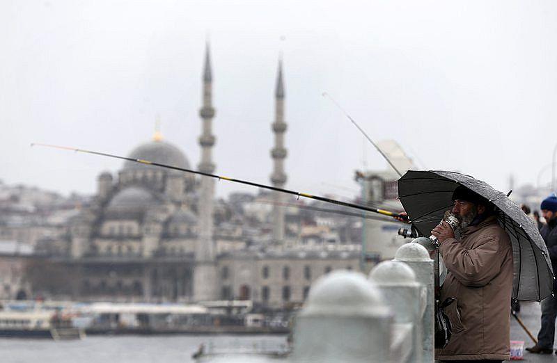 Силна буря в Истанбул  събори дървета и  покриви