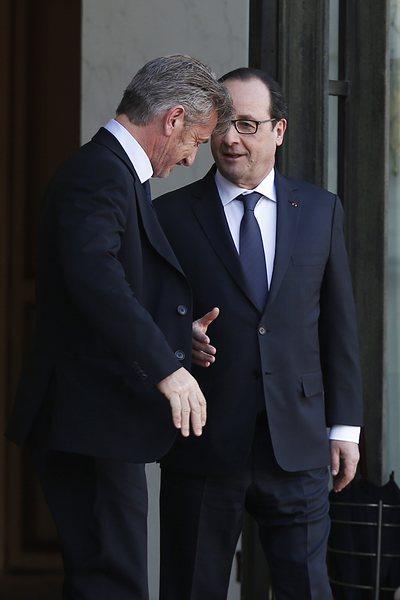 Франсоа Оланд се срещна с актьора Шон Пен