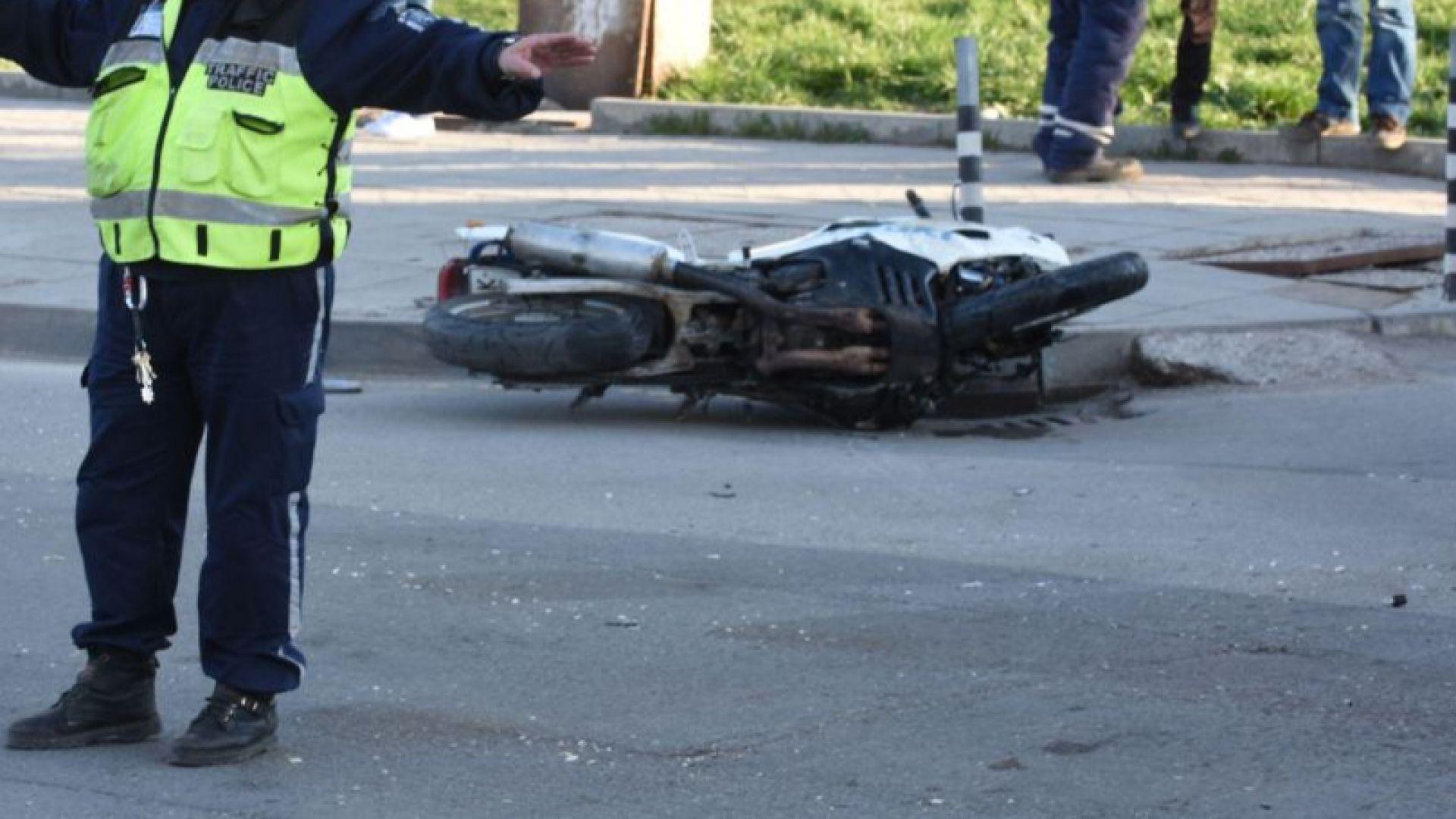 Дрогиран моторист без книжка помете и уби пешеходец