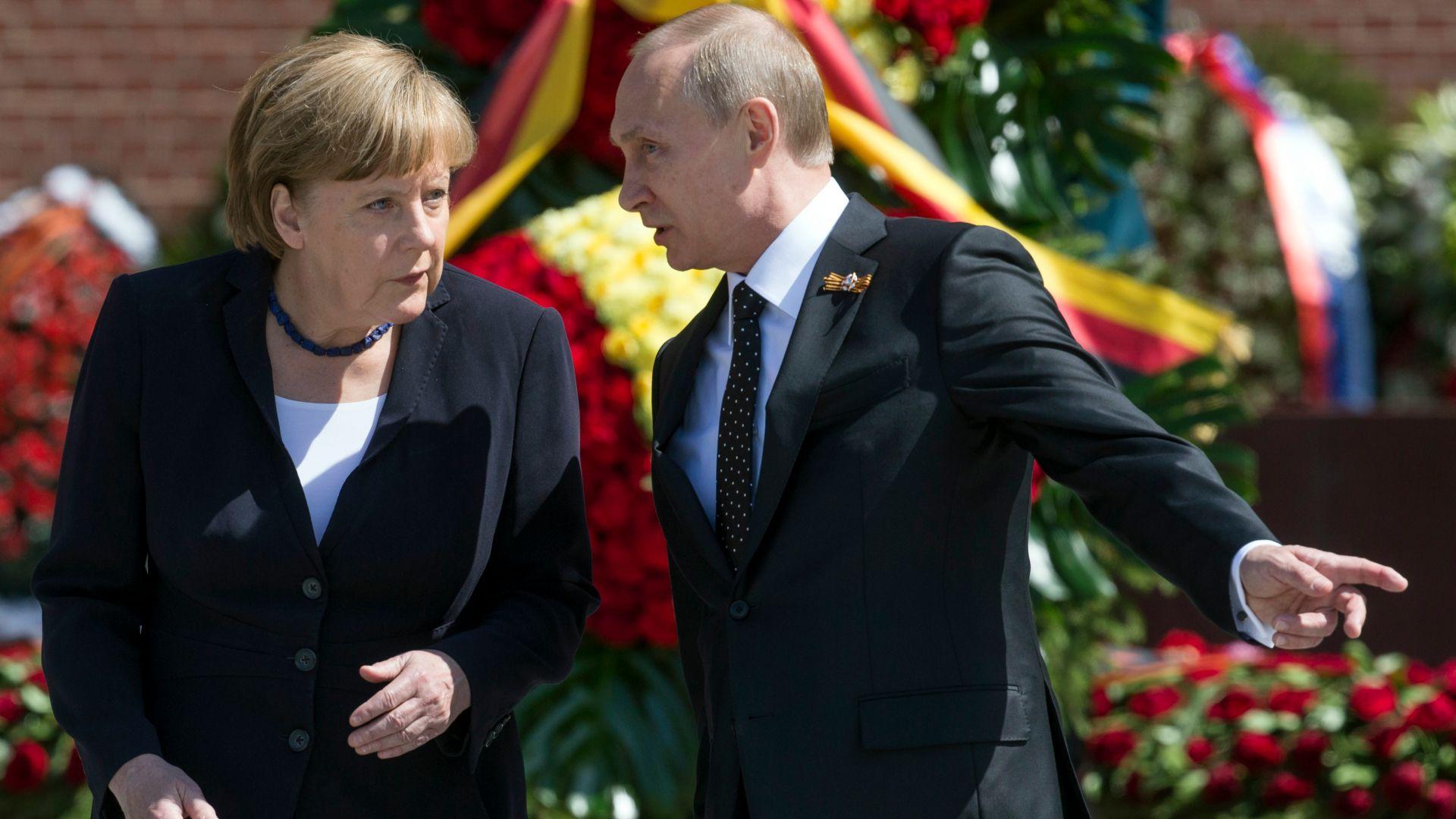 Меркел и Путин се срещат край Берлин в събота
