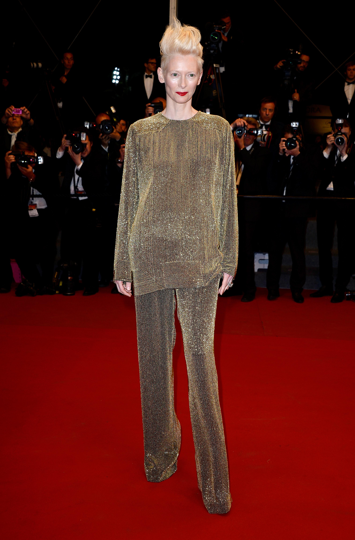 Тилда Суинтън, която получи почетния Златен лъв на кинофестивала във Венеция тази година.