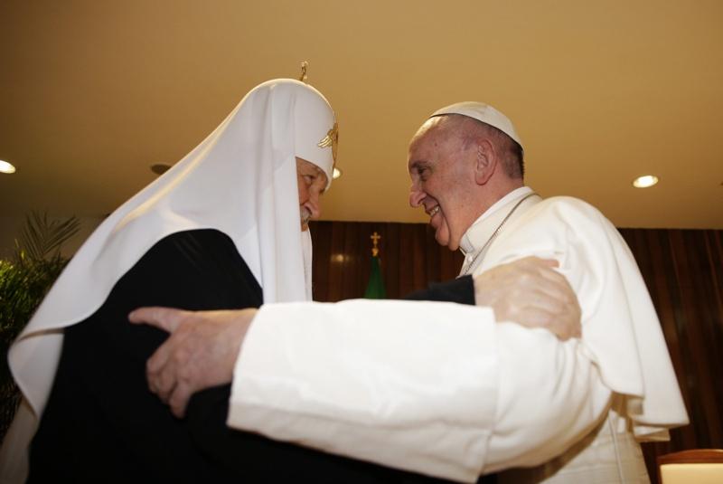 Среща на папа Франциск с руския патриарх Кирил в Куба