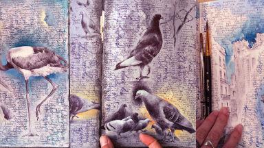 С любов към хора, градове, птици и дръвчета - рисунките на Дина Бродски