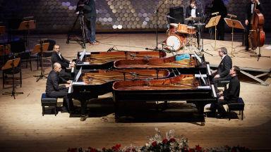 """""""Концерт за 4 рояла"""" отново на сцената на зала 1 на НДК"""