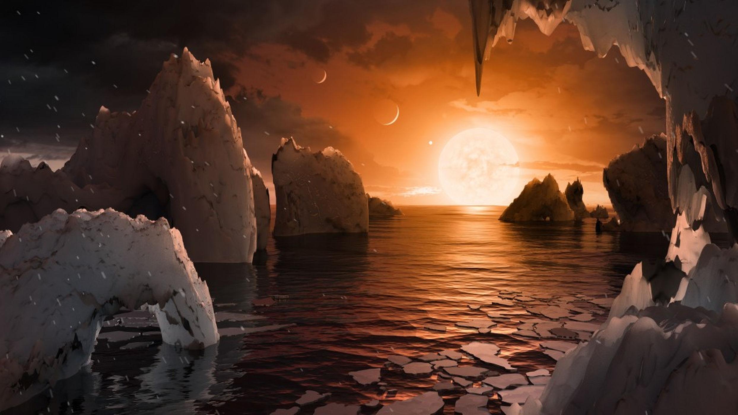 3 от планетите на TRAPPIST-1 може би имат вода