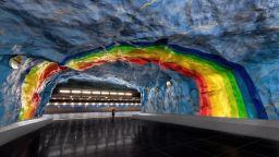 Изкуство под земята: Стокхолмското метро ще ви изуми