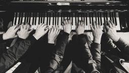 Четиримата пианисти - Иван Янъков, Георги Черкин, Живко Петров и Ангел Заберски - на Sofia Summer Fest