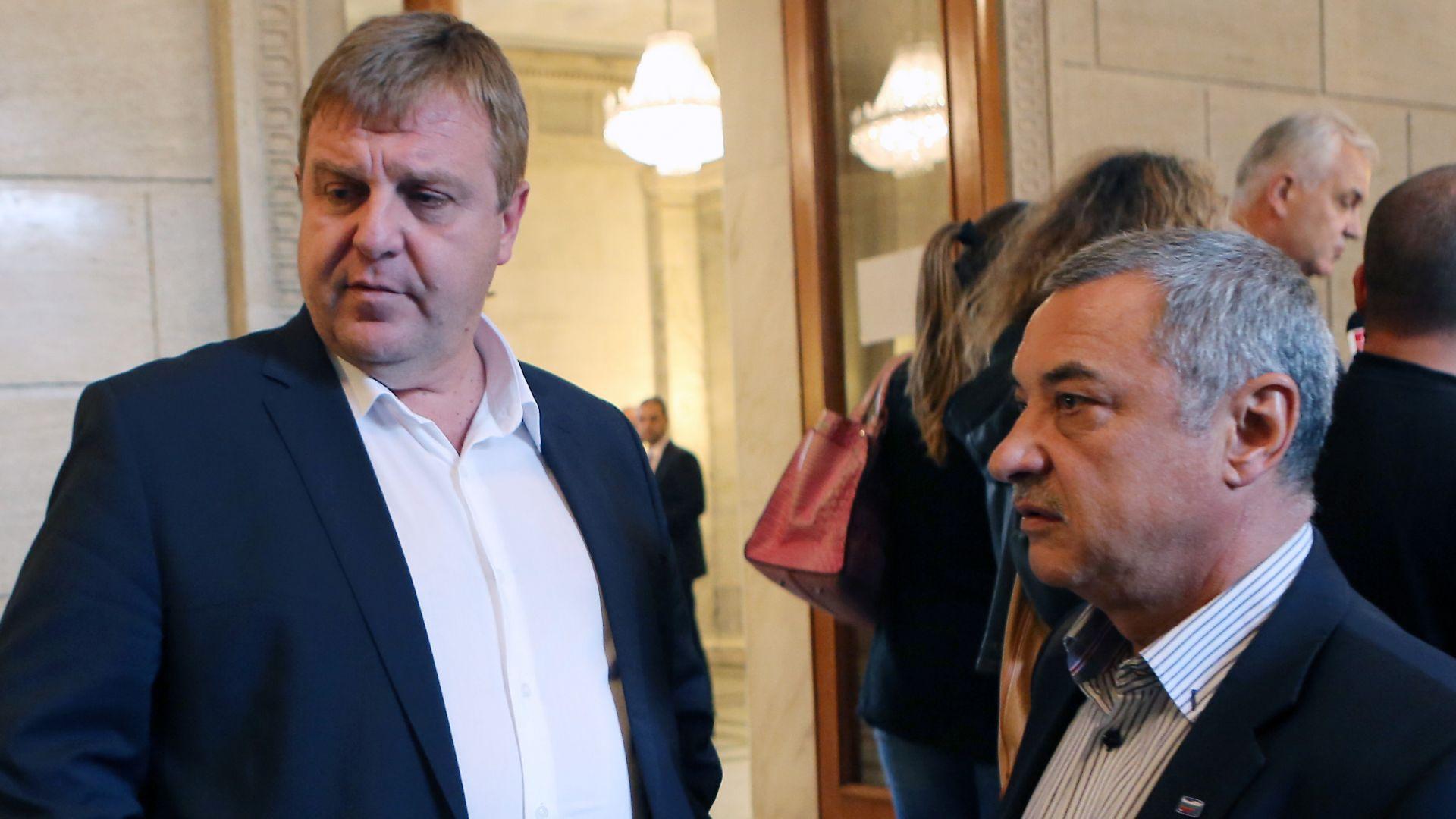 """Каракачанов: Няма голям шанс за оцеляване на """"Обединени патриоти"""""""