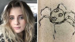 """18-годишната Кейт е с диагноза """"шизофрения"""". Ето как рисува своите халюцинации"""