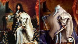Художник добавя анимационни герои в картини на класиците