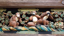 Кой е първообразът на трите мъдри маймуни