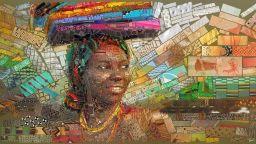 Африканско великолепие в мозайките на Чарис Цевис