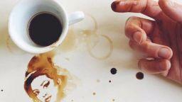 Удивителни картини от... разлято кафе
