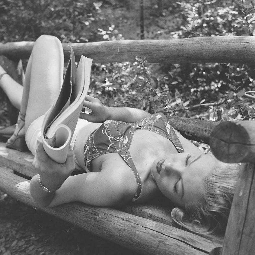 Горският излет на 24-годишната Мерилин Монро (снимки)