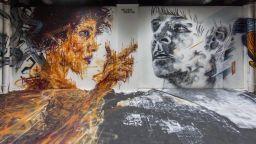 Уникални графити превърнаха студентско общежитие в малък Лувър