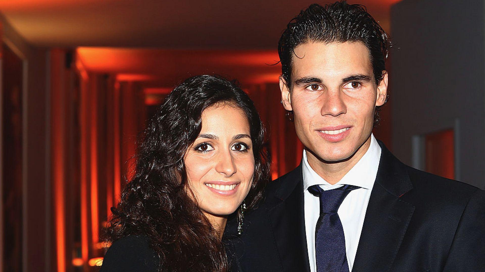 Рафаел Надал с приятелката си