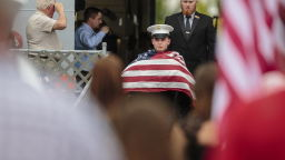 Куче сапьор било погребано с почести като герой от войната