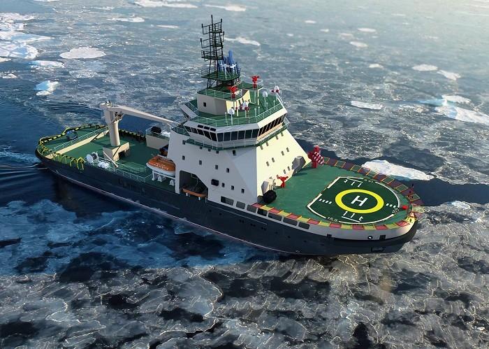 Русия представи новия си ледоразбивач