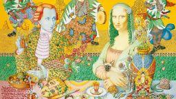 Художник рисува  уникални портрети на знаменитости с цветни моливи