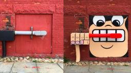 """Художник от Ню Йорк пържи """"яйца на очи"""" на капаците на канализационните шахти"""