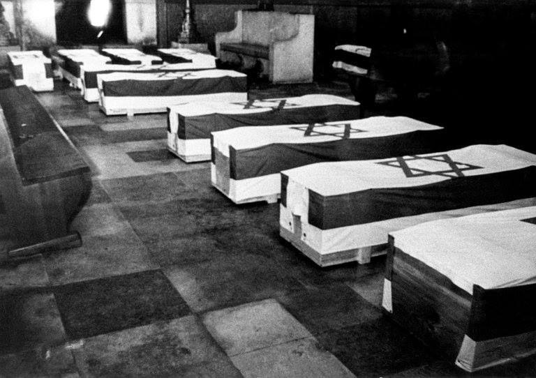 Ковчезите с телата на убитите израелски спортисти