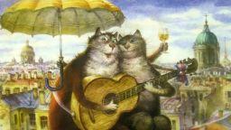 Руски художник стана звезда с рисунки на котки