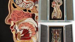 Уникалното човешко тяло от хартиени ленти на Лиза Нилсън