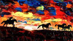 Сляп художник създава уникални цветни картини