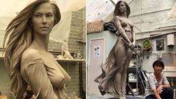 """Живите"" скулптури на Лу Ли Рон"