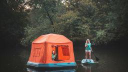 Американците измислиха плуваща палатка за къмпинг