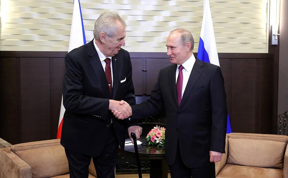 Земан към Путин: Вие победихте в Сирия