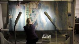 Реставрират най-дългата картина в САЩ